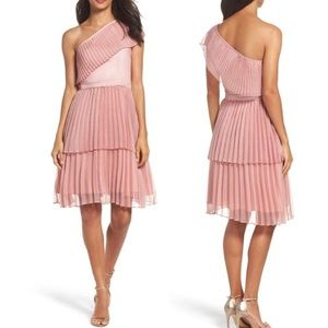 TRUE DECADENCE Pleated Tiered One Shoulder Dress M